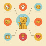 Vector infographics design elements, icons and badges in bright Royalty Free Stock Images
