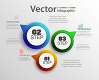 Vector infographics design and marketing icons can be used for workflow layout, diagram, annual report, web design. Business concept with 3 options, steps or Royalty Free Stock Photo