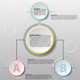 Vector infographics design template with 3D circle paper seperate 2 items for content business infographic concept graphic design. Vector infographics design Stock Photos
