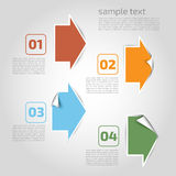 Vector infographics Elemente - Punkte, Grafik für Geschäft desi Stockbilder