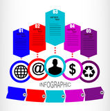 Vector infographics Royalty Free Stock Photography