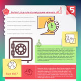Vector infographics layout template Stock Photo