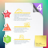 Vector infographics layout template for print or web design  Royalty Free Stock Photography