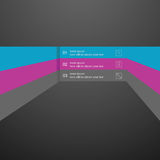 Vector infographics linear element, a template for the design of the website. Stock Image