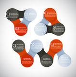 Vector infographics metaball round diagram Royalty Free Stock Image