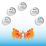 Vector infographics, Minutes of Meeting, captured points in office business meetings through this infographics, also used for soci Stock Image