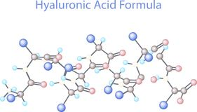 Vector infographics scientific background. Hyaluronic Acid Research Stock Photos
