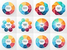 Vector infographics set. Collection of templates Stock Image