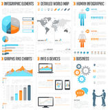 Vector Infographics set. A comprehensive Template set for infographics Stock Photos