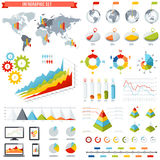 Vector Infographics set. A comprehensive Template set for infographics Royalty Free Stock Images
