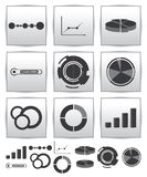 Vector Infographics set icon. Swirl line graph Royalty Free Stock Photography