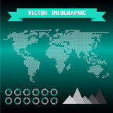 Vector infographics set. World Map Stock Image