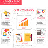 Vector infographics tablets. Royalty Free Stock Images