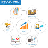 Vector infographics tablets. Template for presentation. Business infographic concept with 6 consistent options, parts royalty free illustration