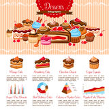 Vector Infographics Template Bakery Shop Desserts Stock Photography
