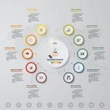 Vector infographics template business presentation. 10 options. EPS 10. stock illustration