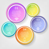 Vector infographics template Stock Photography
