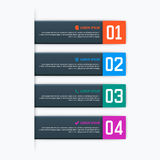 Vector infographics template with four options in material design style. It can be used as a chart, numbered banner Stock Images