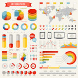 Vector Infographics Template. A full vector hi quality Template set for infographics Stock Image