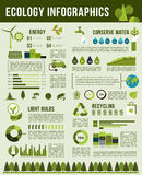 Vector infographics template of nature ecology Royalty Free Stock Photo