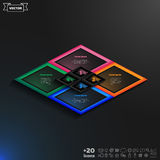 Vector infographics template with rhomb Royalty Free Stock Photography