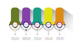 Vector infographics timeline design template for business concept. Vector infographics timeline design template for business concept and icons. Can be used for Royalty Free Stock Images
