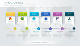 Vector infographics timeline design template. With 3D paper label and graph 6 steps options. For workflow layout diagram, infograph business, infographic stock illustration