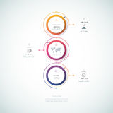 Vector infographics timeline design template Stock Image