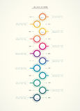 Vector infographics timeline design template Royalty Free Stock Photography
