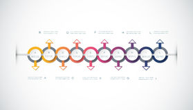 Vector infographics timeline design template Royalty Free Stock Image