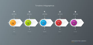 Vector infographics timeline design template with label design Stock Photo