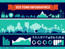 Vector infographics. Town and village Stock Photos