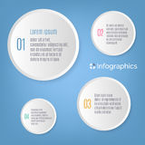 Vector Infographics. White gradient information circles. Vector Infographics, 1 2 3 4 step circles Royalty Free Stock Photos