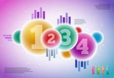Vector infographicsontwerp Royalty-vrije Stock Afbeelding
