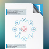 Vector inforgraphics template and design elements Stock Photos