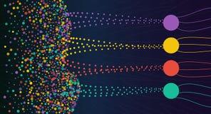 Vector a informação de dados grande colorida abstrata que classifica o visualização ilustração royalty free