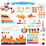 Vector informatie-grafische geplaatste elementen Stock Foto's