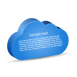 Vector information cloud. Add your own text Royalty Free Stock Images