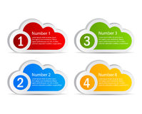 Vector information clouds Stock Photography