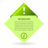 Vector information leaflet Royalty Free Stock Photo