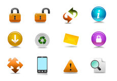 Vector informative icon set Stock Photo