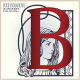 Vector Initial of English alphabet of art-nouveau Royalty Free Stock Photography