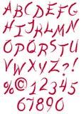 Ink calligraphy alphabet Stock Image
