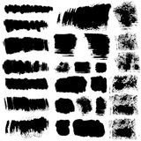 Vector ink brush stains set Royalty Free Stock Photos
