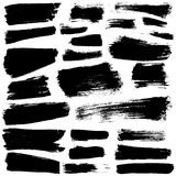 Vector ink brush stains set Stock Photography