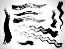 Vector ink brush strokes set Stock Photo
