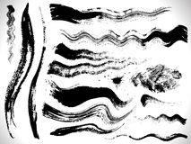 Vector ink brush strokes set Stock Photography
