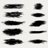 Vector ink brush strokes set Royalty Free Stock Photography