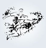 Vector ink illustration of soccer Stock Images