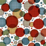 Vector ink splash seamless pattern with rounded overlap shapes a Stock Image